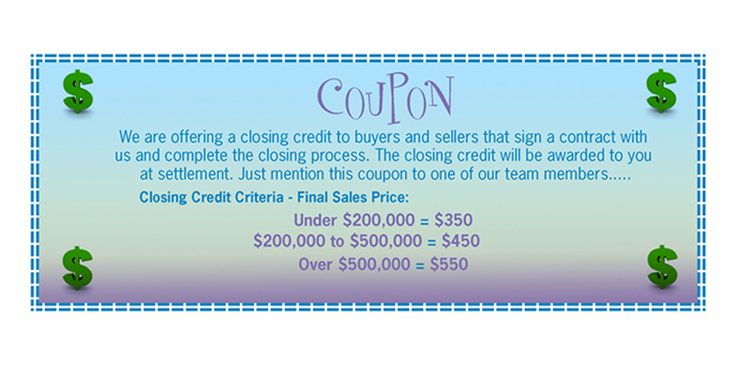 Coupon for Closing Credit